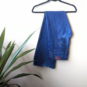 AG The Club Medium Wash Flare Jeans size 28